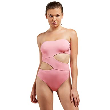 4451e7545 Amazon.com  Volcom Junior s Plus Size Women s Simply Seamless One Piece  Swimsuit  Clothing