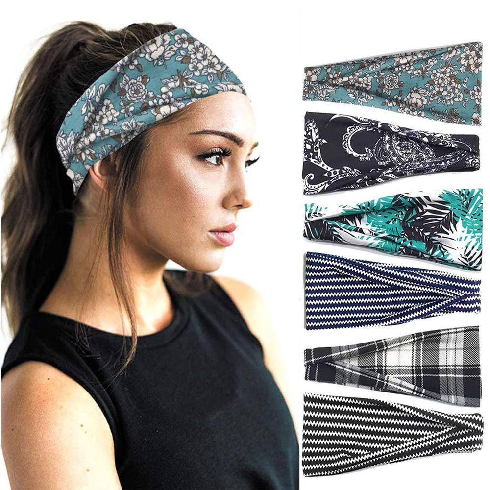 Running Headbands Workout Headbands Boho Extra Wide Headbands Running Headbands for Women Nonslip