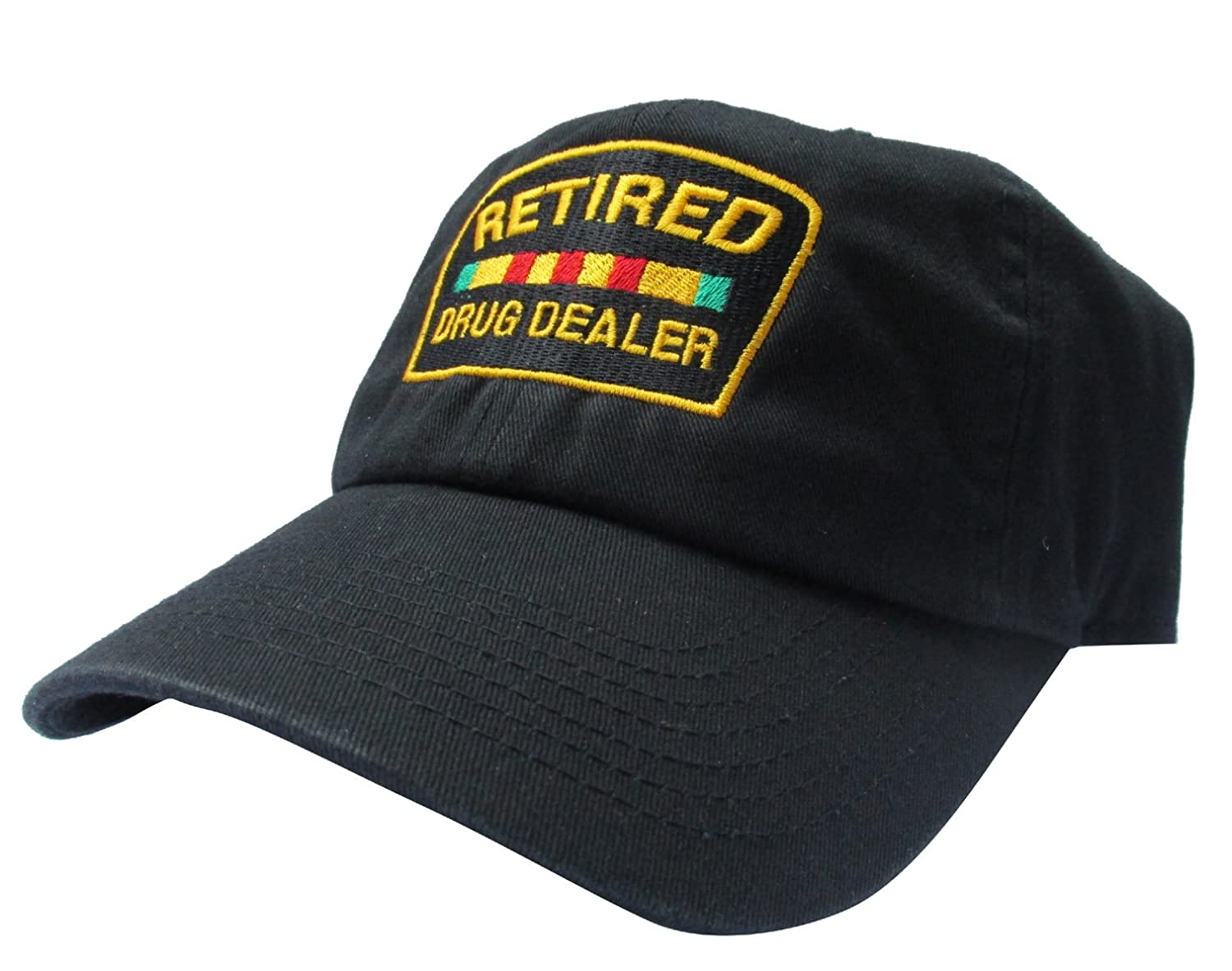 RobsTees Retired Drug Dealer Black Meme Unstructured Twill Cotton Low Profile Dad Hat Cap at Amazon Mens Clothing store: