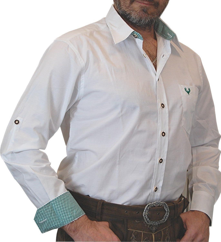 pflegeleichtes Trachtenhemd Slim Line Jan von Lekra mit Farbkontrasten