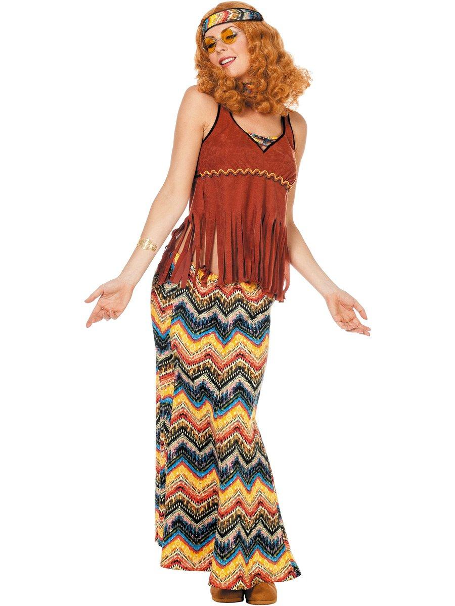 Generique Costume hippie Marroneee da donna S