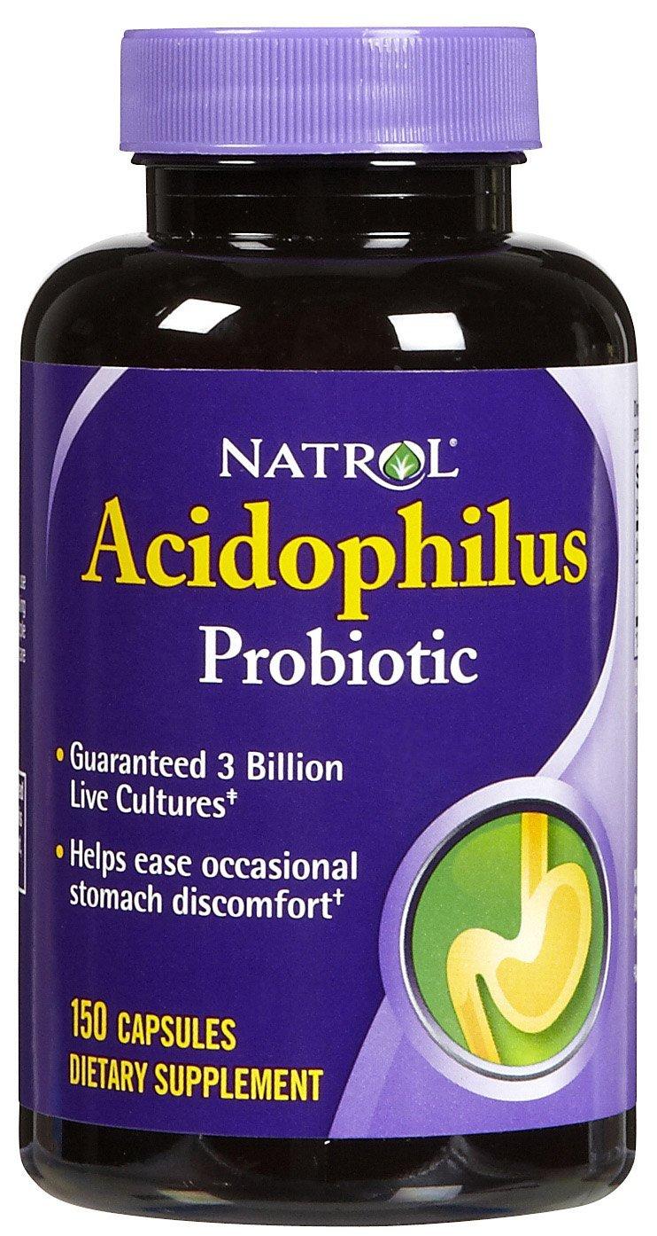 Natrol Acidophilus Probiotic Capsules 150 ea (Pack of 5)