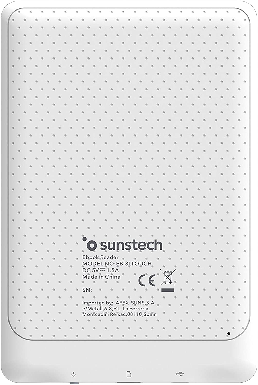 Sunstech EBI8LTOUCH - Libro electrónico de 6