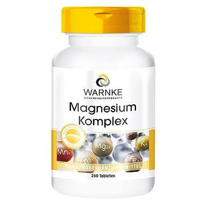 Magnesio Komplex – con óxido de magnesio- carbonato – sulfato – biodisponible – paqueta grande