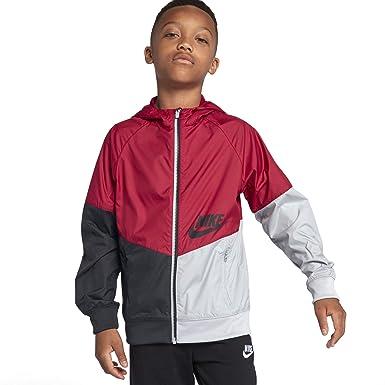 ae5e80049 Amazon.com: Nike Big Kids' (Boys') Full-Zip Hoodie Sportswear Windrunner sz  Large Red Crush/Black/Wolf Grey/Black: Clothing