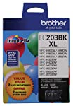Brother Genuine High Yield Black Ink Cartridges, LC2032PKS, Replacement Black Ink Two Pack, Includes 2 Cartridges of...