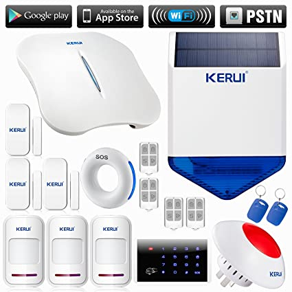 KERUI - W1 WiFi alarma llamada alerta seguridad sistema de ...