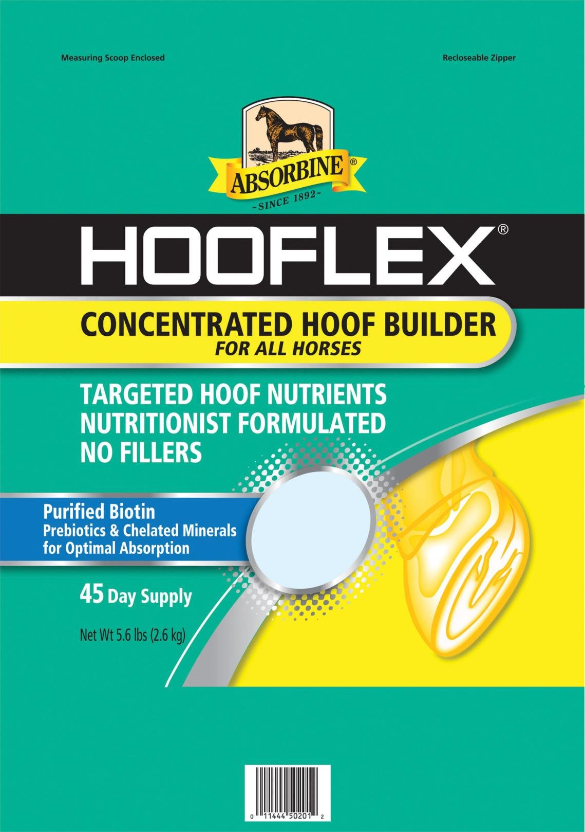 ABSORBINE HOOFLEX CONCENTRATED HOOF BUILDER - 45 DAY SUPPLY