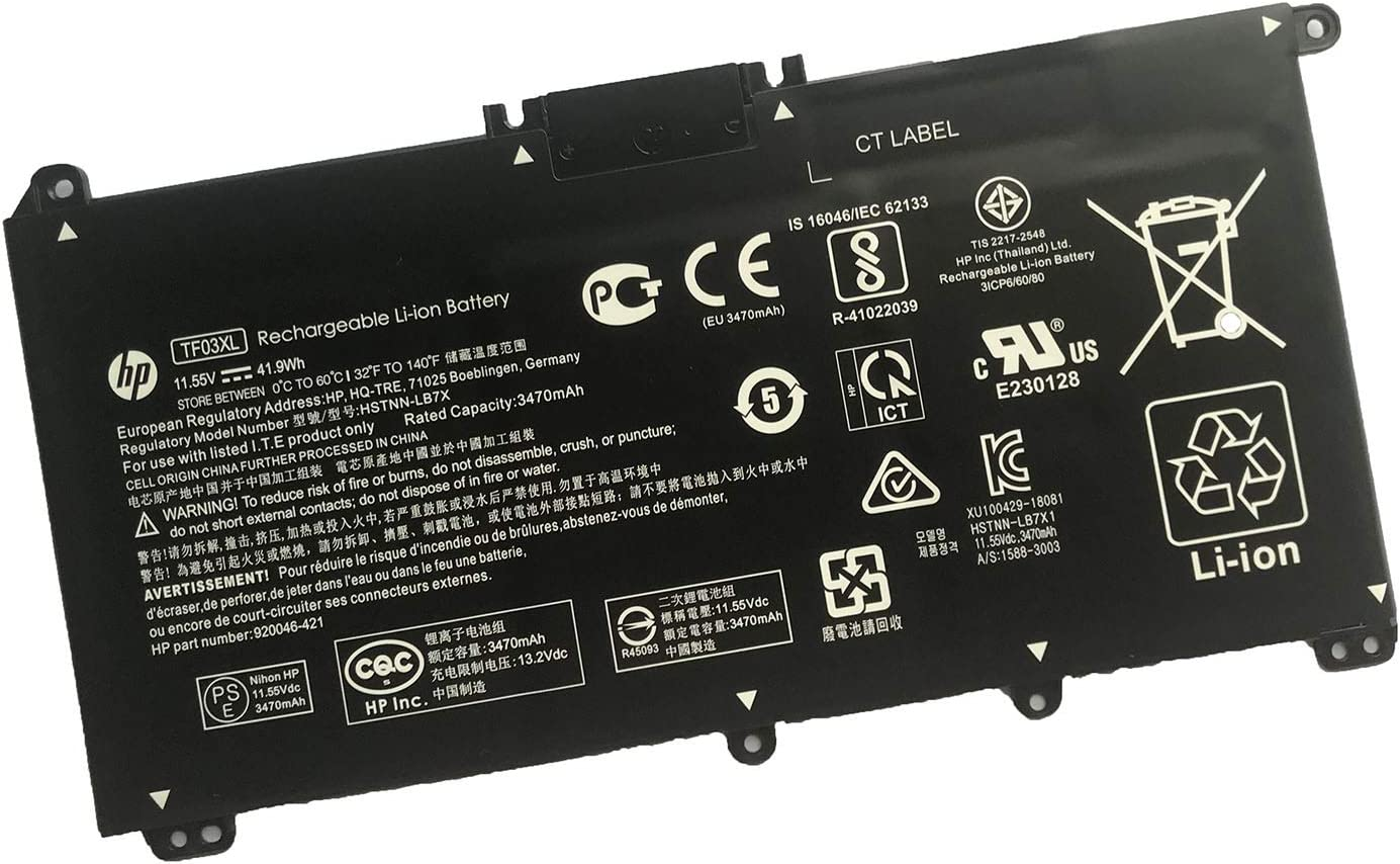 HP TF03XL 11.55V 41.9Wh or 41.7Wh Laptop Battery for HP Pavilion 14-BP000 14-BF000 14-BE100 14-BK001 14-CD0000 15-CC000 15-CD000 15-CK000 17-AR000 Series Notebook