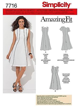 Simplicity Schnittmuster 7716.BB Kleid: Amazon.de: Küche & Haushalt