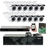 5MP (2592x1920p) 16 Channel 1920P NVR PoE IP Security Camera System - 12 x HD 2.8~12mm Varifocal Zoom 196ft IR IP Camera - 5 Megapixel (3,000,000 more pixels than 1080P, 300% more detailed than 720P)