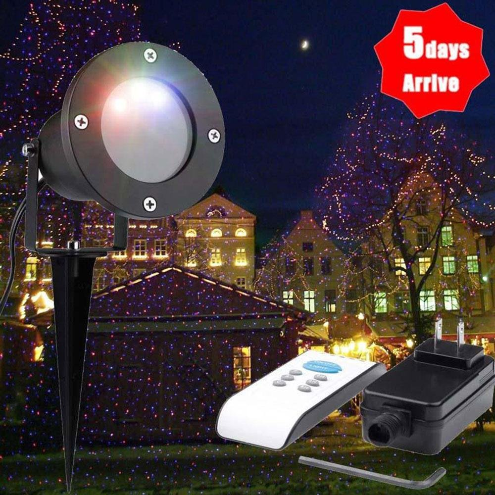 Mabor Outdoor Light Projector, Christmas Xmas Light Show Multicolor Projector Lamp,Waterproof Firefly Projection Lights for Landscape,Wedding ,Birthday,Party,Home,Garden Decoration