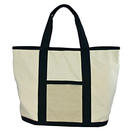 fc0e73b3fe79e5 Simple Ecology Reusable Organic Cotton Super Duty Canvas Tote & Grocery Bag-  Black (shopping