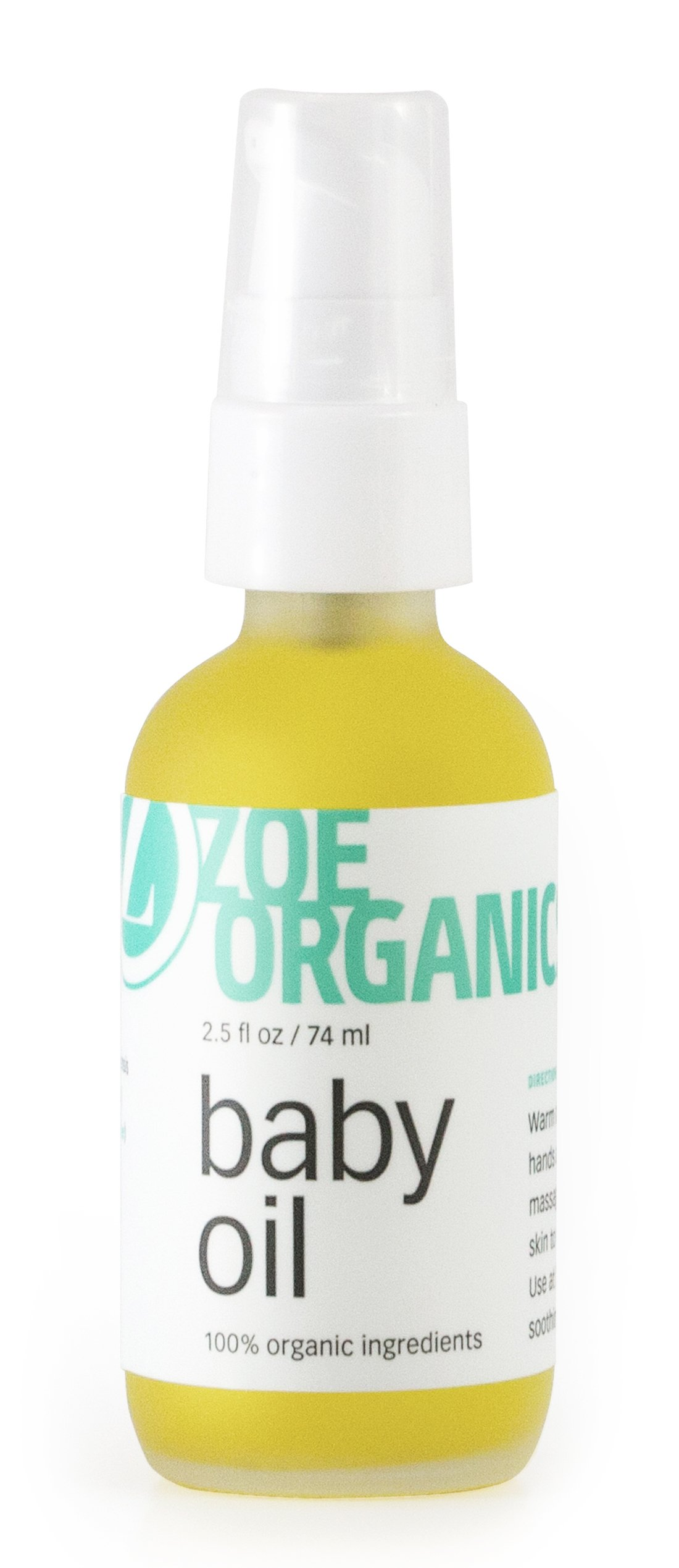 Zoe Organics - Baby Oil, Organic Calming Blend of Nutrient-Rich Oils, Moisturizes Baby's Delicate Skin, Massage Oil, Calming Blend of Lavender and Chamomile (2 Ounces) by Zoe Organics