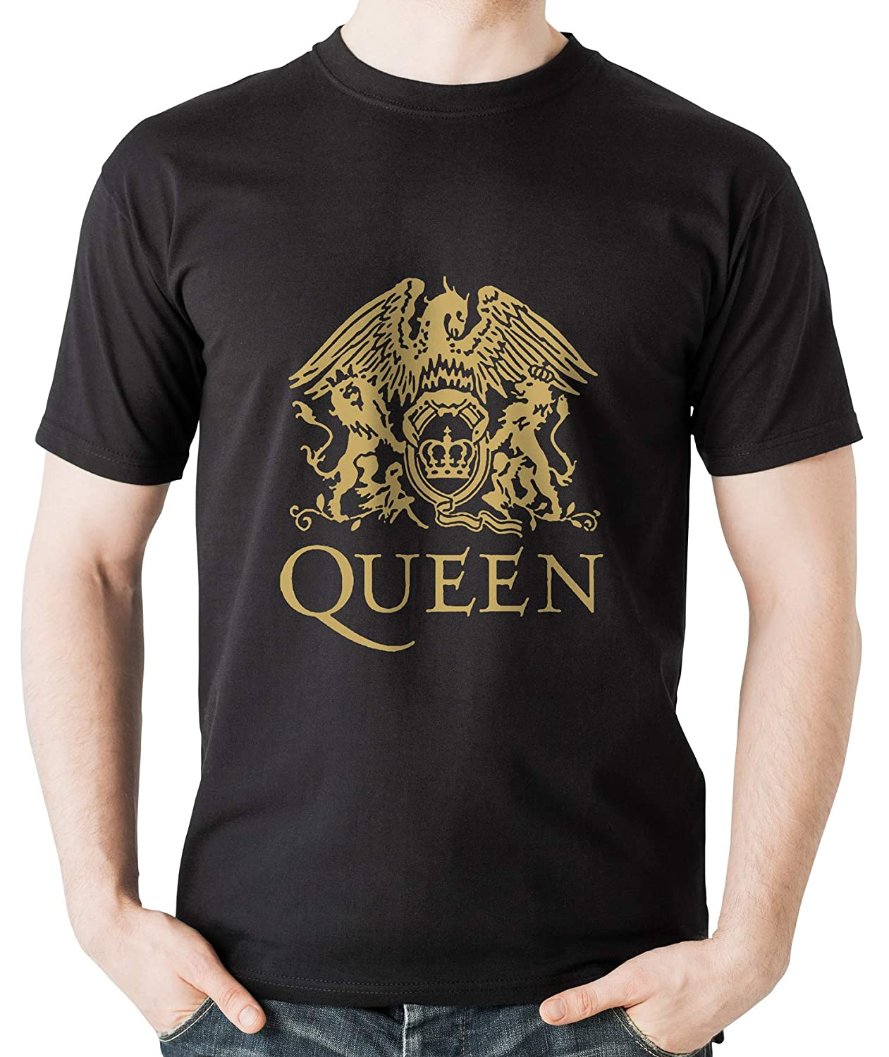 9aa5fc61c197 MankiTees Queen - Brian May - Classic Progressive Rock t Shirt - Rock Music  Band t Shirts for Rock Concerts and Headbangers - Hard Rock and Heavy Metal  ...