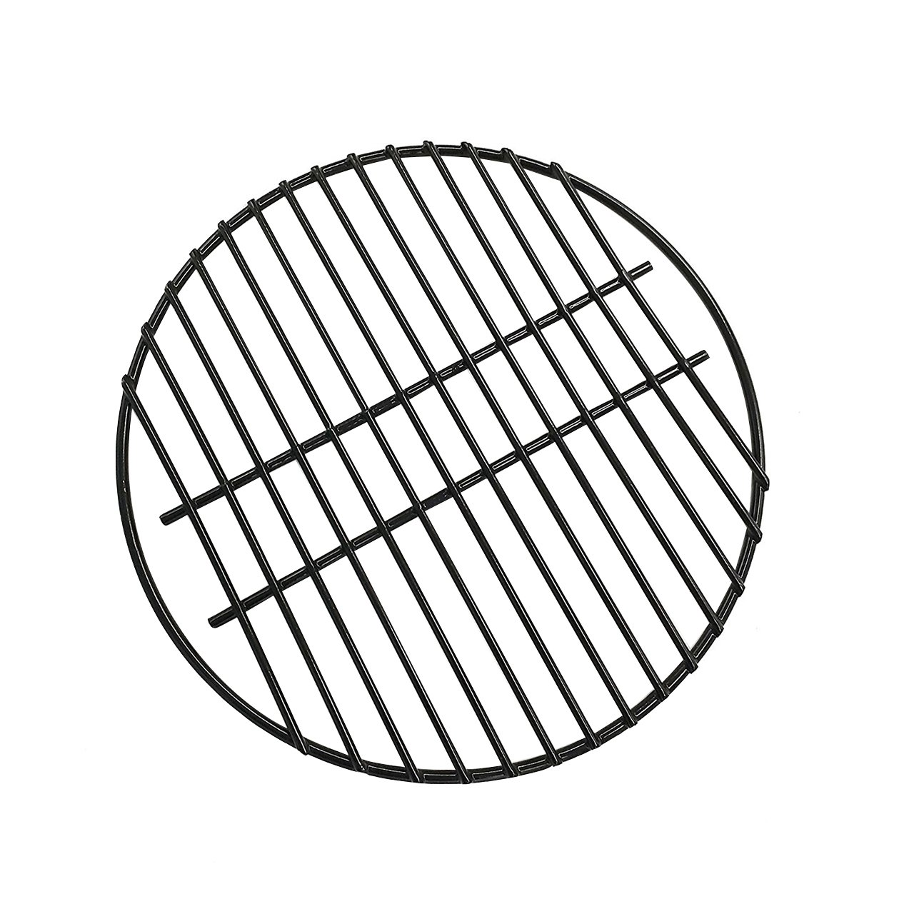 "BBQ 15'' Porcelain Coated Steel Wire Cooking Grid Grate Replacement for Grill Dome Medium Big Green Egg Kamado Joe Classic Char-Griller Barbecue Ceramic Grill and Smoker (15"")"