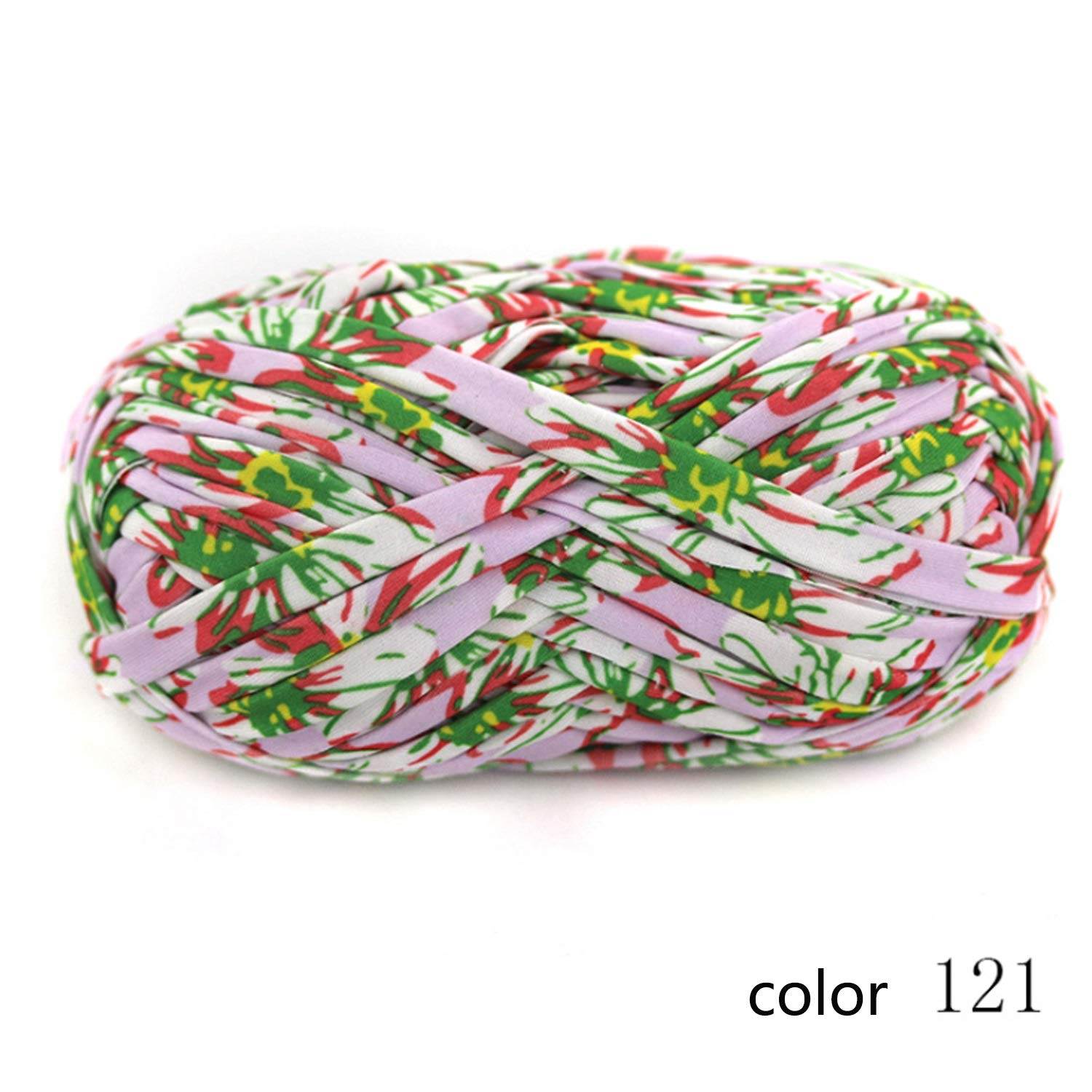 Col 121 10 balls Yarn knitting yarn Flower print cloth flower cloth hand crochet line bag carpet line 1   0.3 NM 1 ball about 100 g 10 multicolor selection possible ( color   Col 135 , UnitCount   20 balls )
