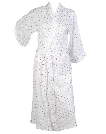Waite Ltd Ladies Floral Rose Kimono Wrap 100% Cotton Womens ...