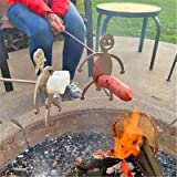Steel Hot Dog Roasters, Women/Men Shaped Stainless Steel Camp Fire Roasting Stick, Funny Metal Craft Skewer Stick, Barbecue F