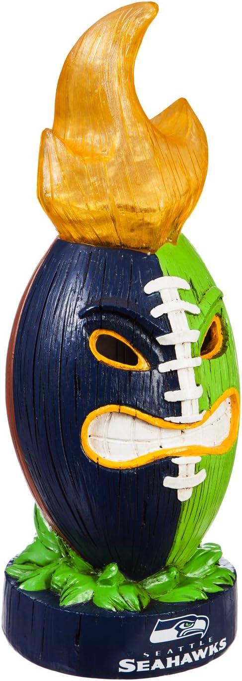 Team Sports America Seattle Seahawks Lit LED Team Tiki Totem Outdoor Safe Garden Statue