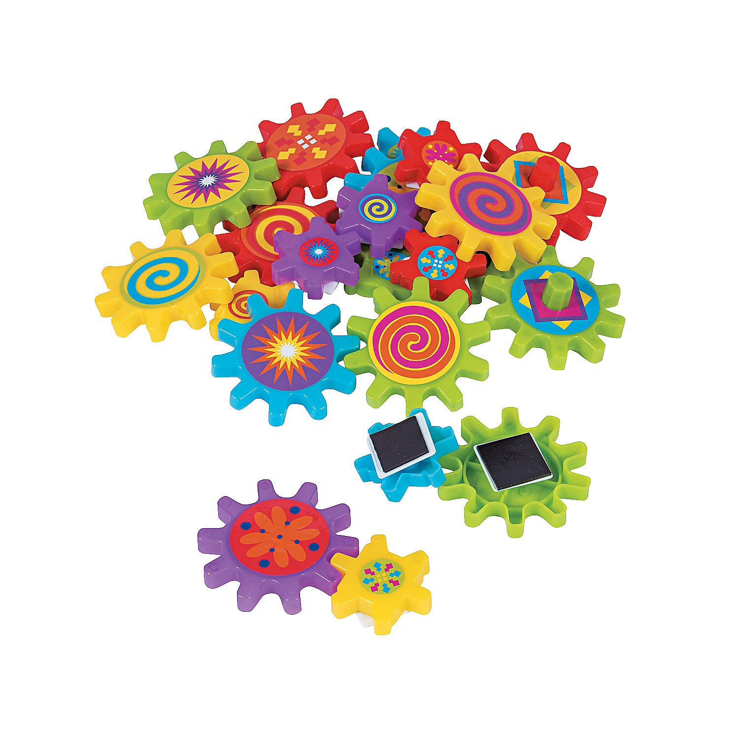 Fun Express - Magnetic Spinning Gears - Toys - Active Play - Blocks & Construction - 22 Pieces by Fun Express
