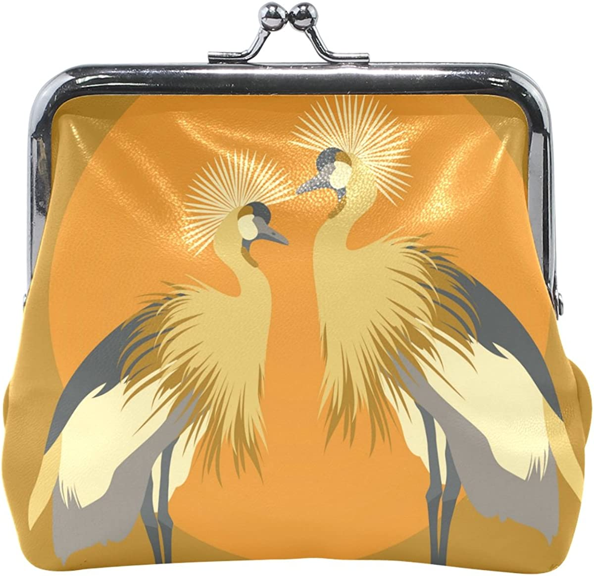 Sunlome Young Gallant Shadoof Crane Coin Purse Change Cash Bag Small Purse Wallets for Women Girl