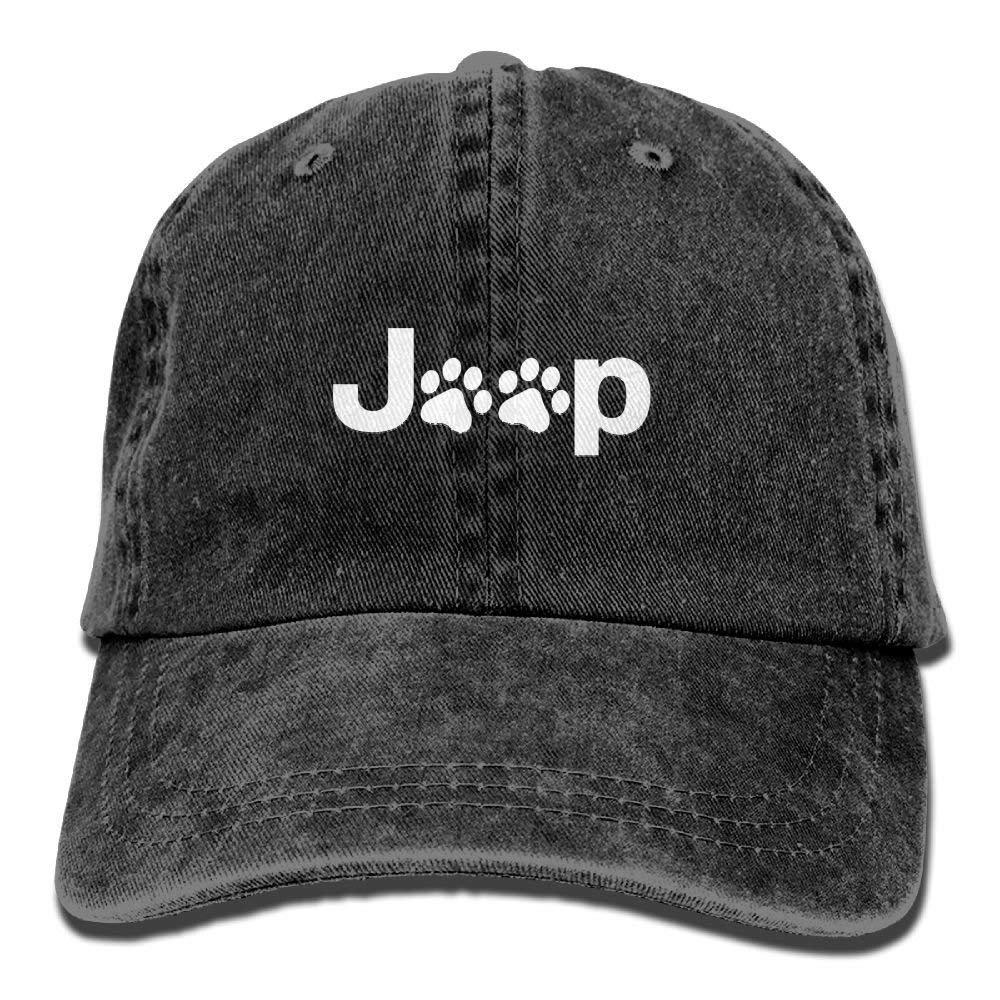 JTRVW Cowboy Hats Jeep Dog Paw Plain Adjustable Cowboy Cap Denim Hat for Women and Men