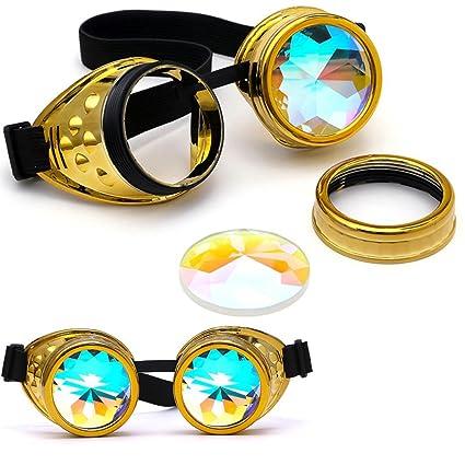 Gaddrt Kaléidoscope verres rave Festival Party EDM lunettes de soleil diffracté Lens (Rouge) 5NCyI2Vh