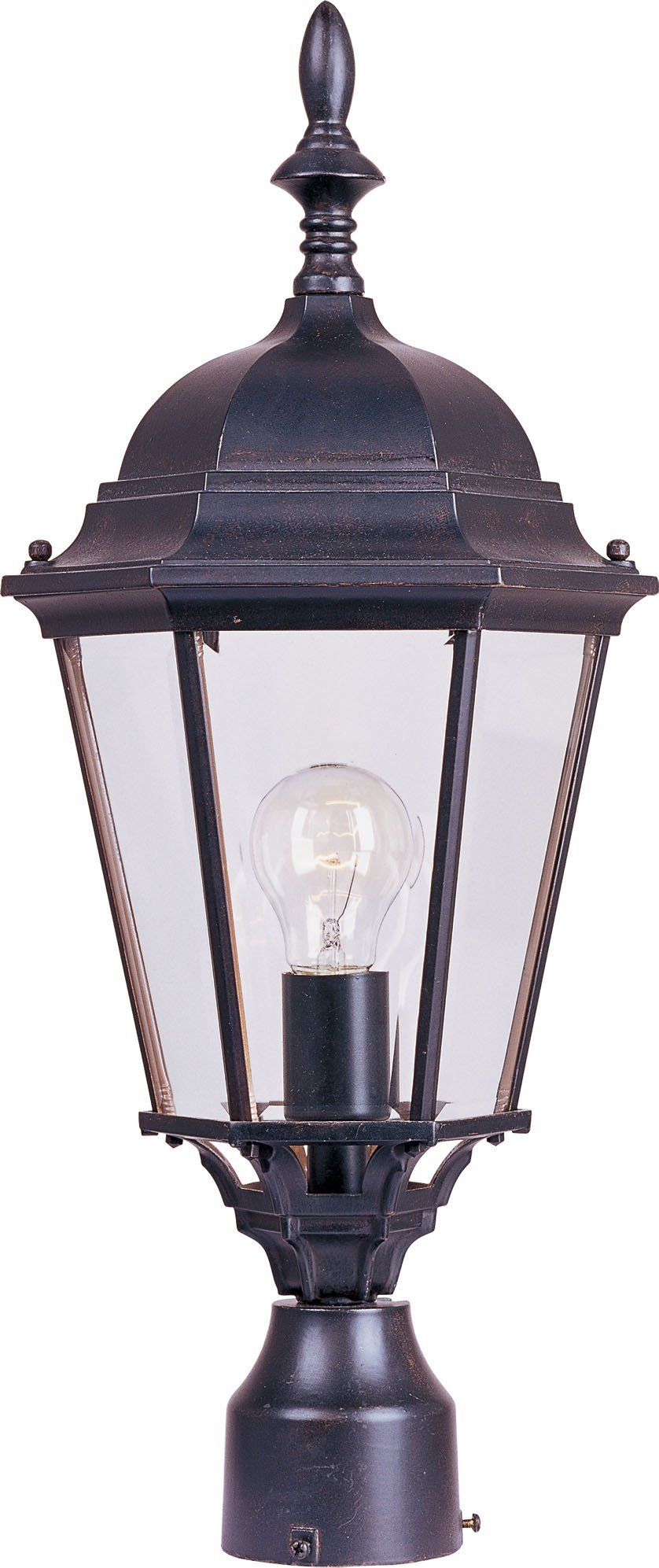 Maxim 1005EB, Westlake Cast,1-Light Outdoor Pole/Post Lantern, Empire Bronze