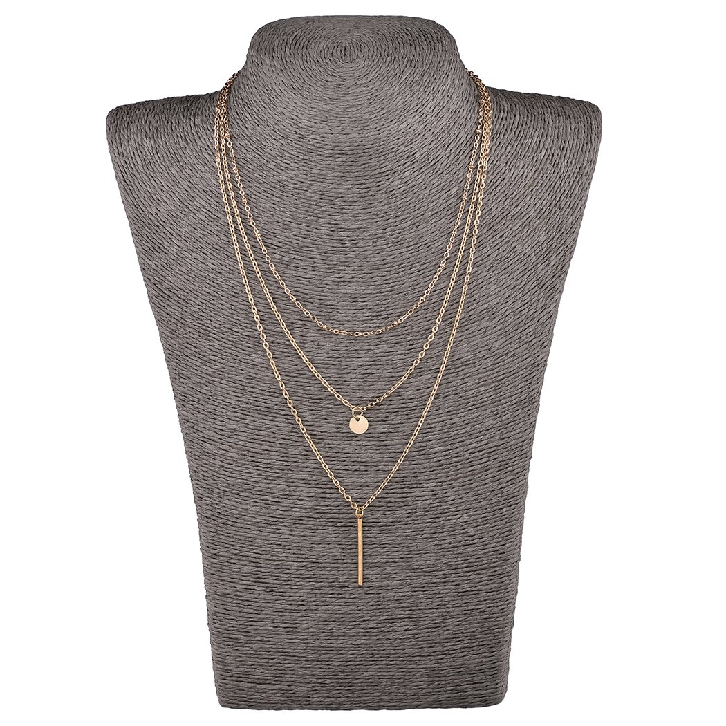 Mother's Day Gift- 5 PCS Long Lariat Y Chain Necklace Set Simple Bohemia Multilayer Pendant for Women by Angelus (Image #4)