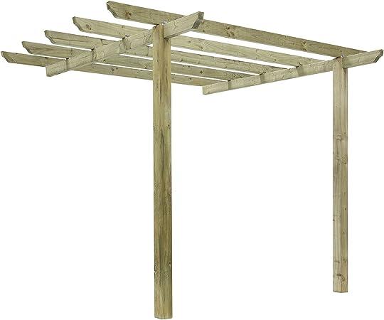 Diseño cilíndrico tradicional Pergola 2, 7 m postes: Amazon.es: Jardín