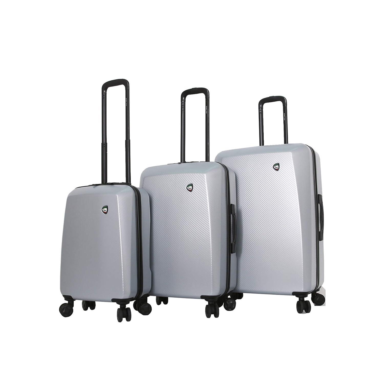 Mia Toro Italy Torino Hard Side Spinner Luggage 3 Piece Set Silver
