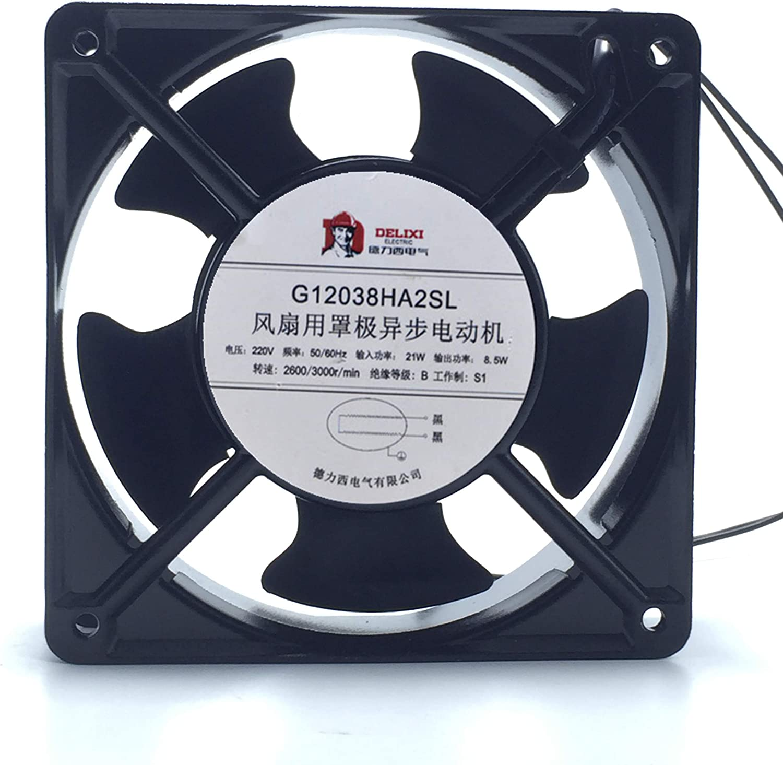 for The New Delixi G12038HA2SL 220V 21W 12CM Cabinet Welding Welding Cooling Fan