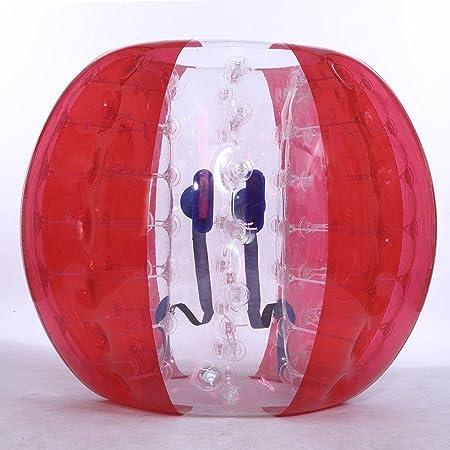Pelota de PVC para parachoques, bola de hámster humano, balón de fútbol de burbujas, bola de zorb, rojo, 1,5 m: Amazon.es: Juguetes y juegos
