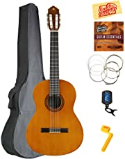 Yamaha CS40 3/4-Scale Classical Guitar Bundle with Gig Bag, Tuner, Strings, String Winder, Austin Bazaar Instructional DVD, and Polishing Cloth