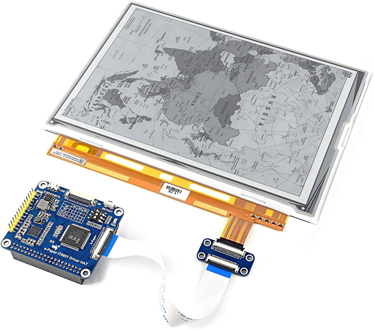 1200x825 Resolution with Embedded Controller IT8951 E-Paper Display Communicating via USB//SPI//I80//I2C Interface. Compatible with Raspberry Pi Zero//Zero W//Zero WH//2B//3B//3B+ 9.7 inch E-Ink Display