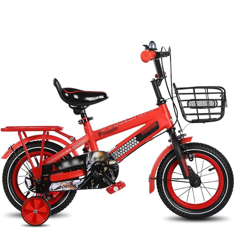 HAIZHEN マウンテンバイク キッズバイク、サイズ12インチ、14インチ、16インチ、18インチブルー、レッド、イエローベビー自転車調節可能なシートセキュリティ保護 新生児 B07C6WJZ97 16 inch|赤 赤 16 inch