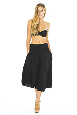 Back From Bali Womens Culotte Pants Crop Palazzo Wide Leg Trousers ...