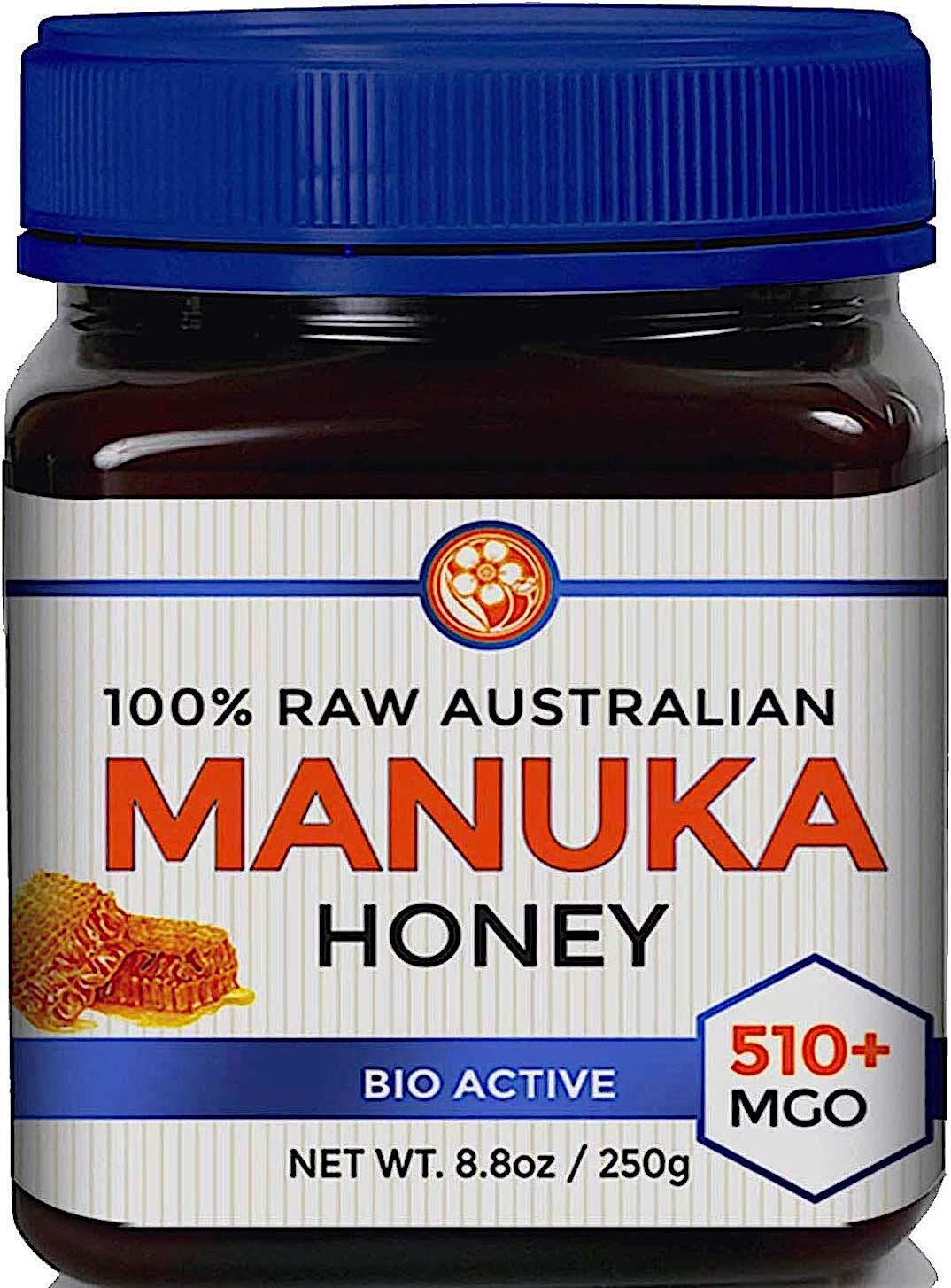 Raw Manuka Honey Certified MGO 510+ (NPA 15+) High Grade Medicinal Strength Manuka with Antibacterial Activity - 250g by Good Natured