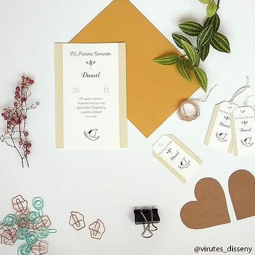 Invitación Mi Primera Comunión Paloma | Set de tarjetas y ...