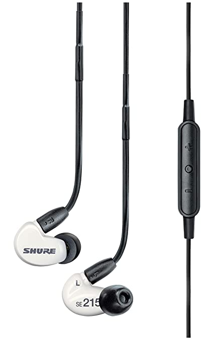 fb6e6e2f8d9 Shure SE215m+ Special Edition Sound Isolating Earphones with Remote and  Microphone