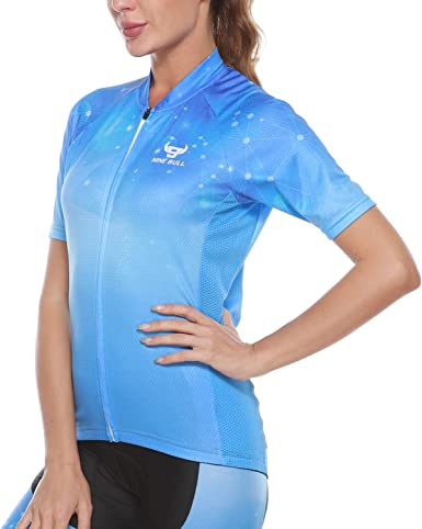 New Ladies Cycling Jersey Short Sleeve MTB Bike Riding Breathable Sports Tops
