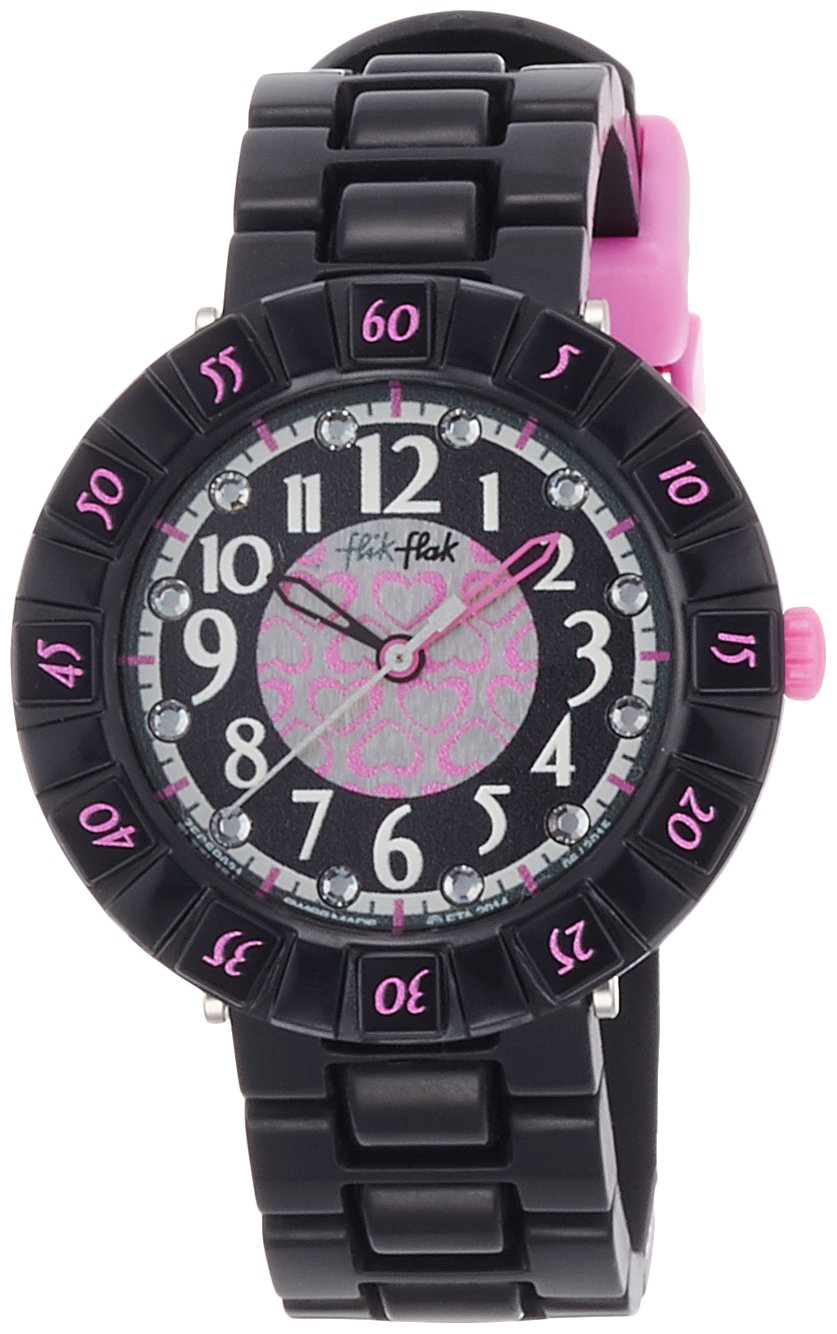 Flik Flak Courantra Grey Dial Silicone Strap Girls Watch ZFCSP021