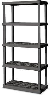 STERILITE 01553V01 5 Shelf Unit, Flat Gray Shelves U0026 Legs, ...