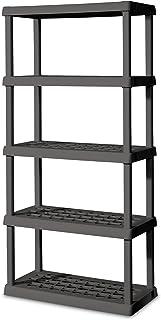 STERILITE 01553V01 5 Shelf Unit Flat Gray Shelves u0026 Legs ...  sc 1 st  Amazon.com & Amazon.com: Sterilite 01558501 5-Shelf Unit with Light Platinum ...