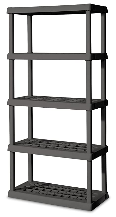 Amazon.com: STERILITE 01553V01 5 Shelf Unit, Flat Gray Shelves ...