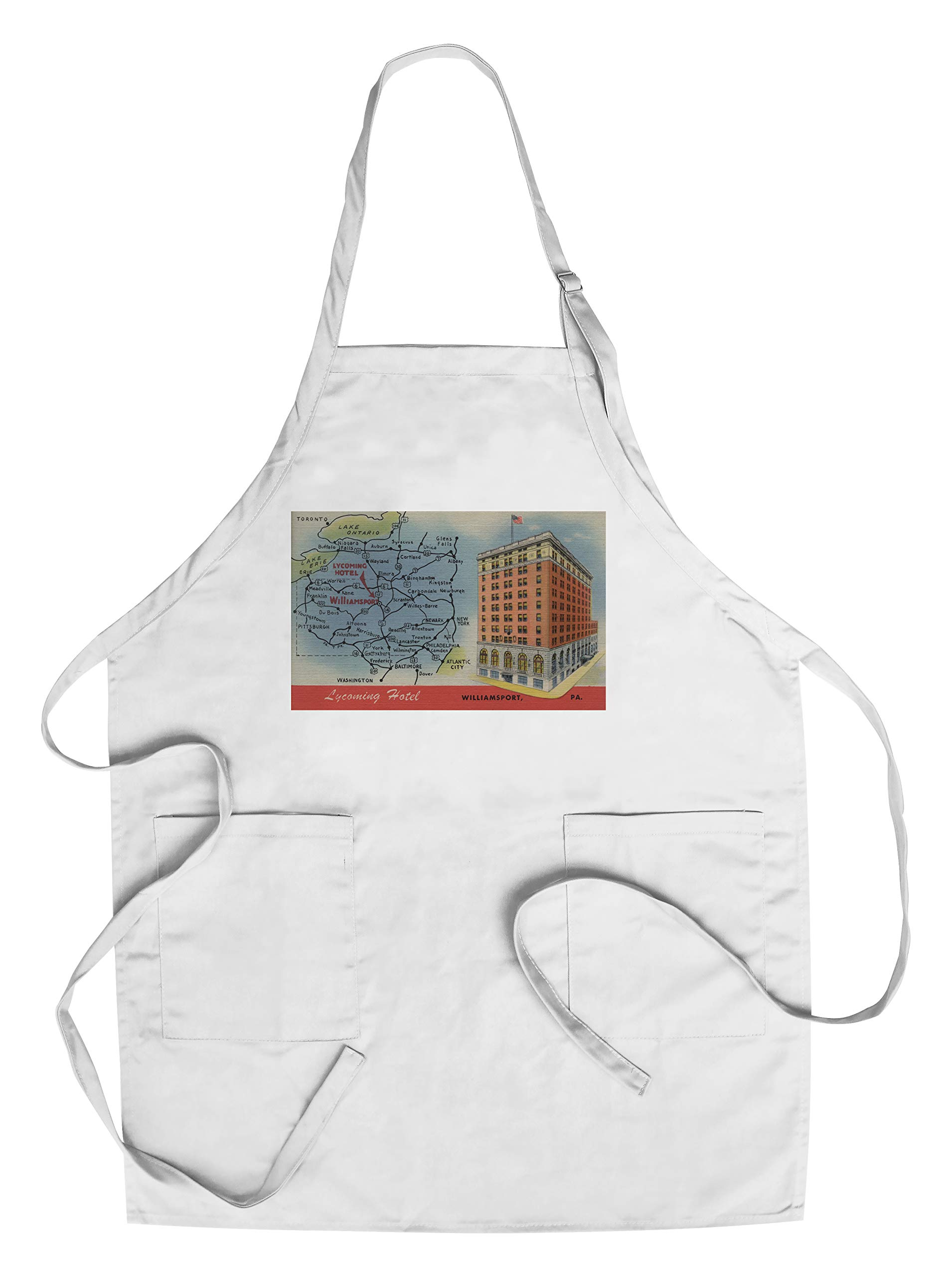 Williamsport, Pennsylvania - Detailed Map, Lycoming Hotel (Cotton/Polyester Chef's Apron)