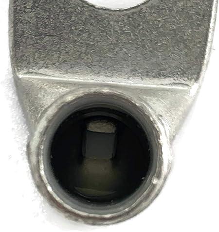 Capocorda angolato 4x Occhiello ad anello 16 mm/² M8 Occhiello di pressione per cavo batteria Capocordare il capocorda del cavo