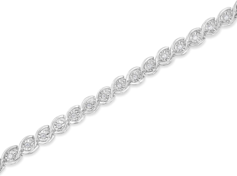Sterling Silver Diamond Link Bracelet (0.5 cttw, I-J Color, I2-I3 Clarity)