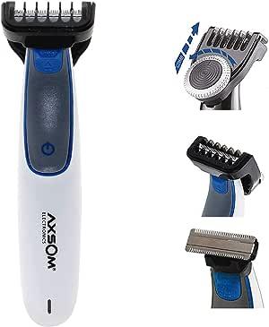 Range Sharp Blade Recortadora para Barba, Barbero eléctrico con batería, Afeitadora Corporal para Hombres Profesional con 20 Niveles. Cortapelos Blanco: Amazon.es: Belleza